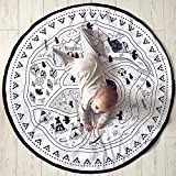 ELLANM Cartoon Baby Infant Creeping Playmat Decke Spielen Spiel Matte, Kinderzimmer Dekoration Matte, Baby Krabbeln Matten, Baby Komfort Kissen 145 cm * 145 cm (Leinwand Material),B