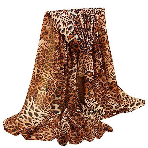 GreatestPAK Damen Baumwolle Leinen Klassischer Leopard Schal,C - Schwarz Pure Cashmere Damen-handschuhe