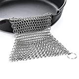 Edelstahl Eisen von langlebigem Metall Kettengeflecht Scrubber für Bratpfanne Topf Wok Kochgeschirr Reinigung Rectangle
