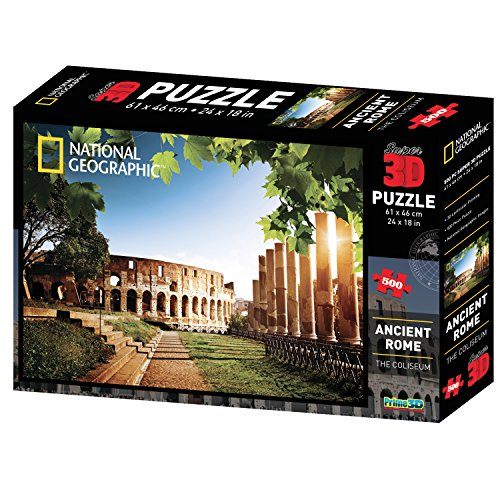 National Geographic NG10056 - Puzzle Super 3D Antica Roma/Il Colosseo (500 pezzi)