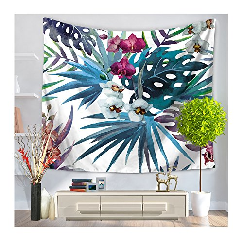 homtod-tropical-beauty-wall-art-home-decor-parete-arazzo-stile-hawaiano-59-x-1295-cm-palm-and-floral