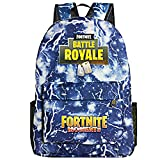 Fortnite Game Printed Zaino da 15 pollici Laptop Book Satchel, Borsa da scuola per unisex Canvas Backpack Laptop Book Satchel Borsa da Lavoro Viaggio Scuola