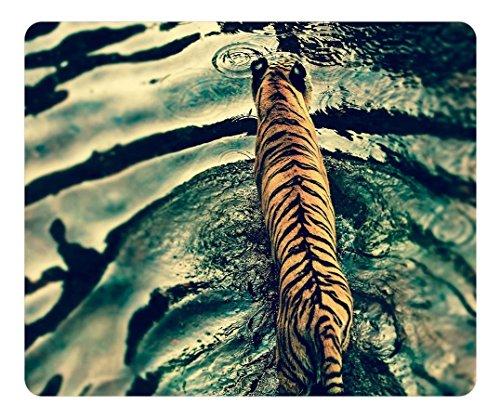 scorpio-leo Individuelle Mauspad, rechteckig Wellen Tiger Personalisierte Mauspad rutschfest Gaming Maus Pads (Tiger Welle)