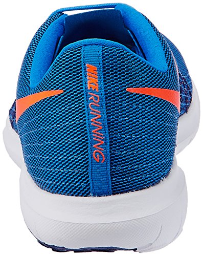 Nike Flex Fury 2, Chaussures de Running Entrainement Homme Bleu - Azul (Pht Bl / Ttl Orng-Dp Ryl Bl-Whit)