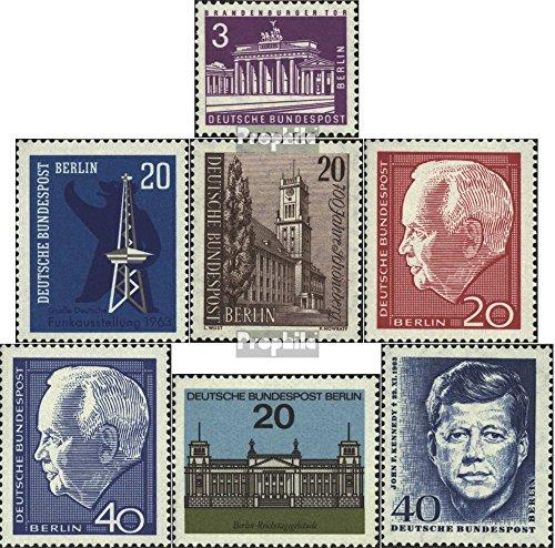 Prophila Collection Berlin (West) 231,232,233,234-235, 236,241 (kompl.Ausg.) 1963/64 Funk, Schöneberg, Lübke, Kennedy (Briefmarken für Sammler) -