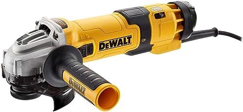 DeWalt Winkelschleifer (1500 Watt, 125 mm mit Drehzahlelektronik, mit Sanftanlauf und Nullspannungsschutz) DWE4257-QS