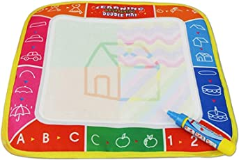 TOYMYTOY Aqua Drawing Mat Water Doodle Pad and Magic Pen Educational Toy 26x16.5cm