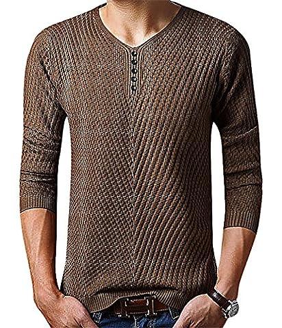 Men24 - Sweat-shirt - Manches Longues - Homme - marron - Medium