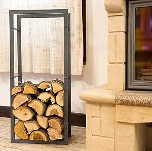 Scaffale per legna da camino porta legna da camino 100cm - Porta legna per camino ...