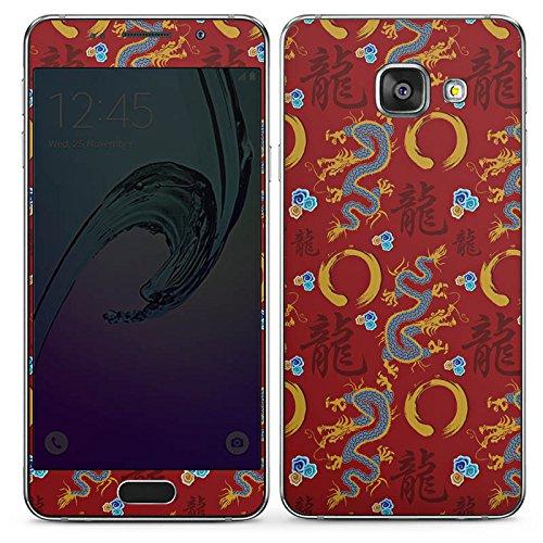 DeinDesign Samsung Galaxy A3 (2016) Folie Skin Sticker aus Vinyl-Folie Aufkleber China Drachen Dragons