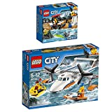 Lego City 2er Set 60163 60164 Küstenwache-Starter-Set + Rettungsflugzeug