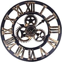 soledi reloj de pared engranaje hueca estilo metlico mecnico cm