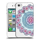 Head Case Designs Offizielle Micklyn Le Feuvre Blau Rot und Weiss Mandala 5 Ruckseite Hülle für Apple iPhone 4/iPhone 4S