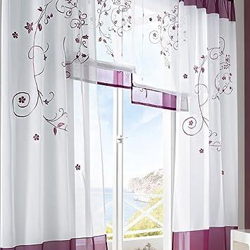 Amazonde LianLe Gardine Vorhang Landschaft Stil Fr Wohnzimmer Schlafzimmer Studiezimmer
