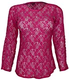 Attuendo Women's Sheer Lace Blouse with ...