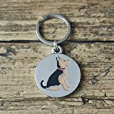 Yorkshire Terrier perro etiqueta/llavero