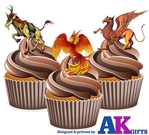 creature-mythique-griffin-phoenix-melange-a-gateau-decorations-12-decorations-comestibles-cup-cake