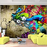 Fototapete Graffiti 396 x 280 cm - Vliestapete - Wandtapete - Vlies Phototapete - Wand - Wandbilder XXL - !!! 100% MADE IN GERMANY !!! Runa Tapete 9066012a