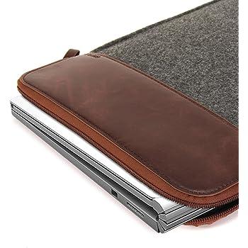 GMYLE 13-13.5 zoll Filz Leder Hülle Etui Tasche für Microsoft Surface Book  Lenovo ThinkPad Google Chromebook Toshiba Acer Sony Samsung Dell HP ASUS  und ... 54bcd15df04
