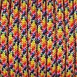 Efco Mélange de couleurs 550Paracorde Corde, Polyester, Multicolore, 4mm x 4m