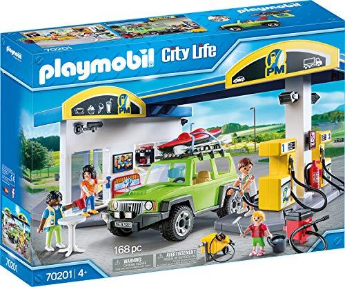 PLAYMOBIL City Life 70201 Große Tankstelle, Ab 4 Jahren