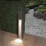 Wegeleuchte Aluminium grau 75 cm | einseitiger Lichtaustritt + E27 + IP43 + robust + winterfest + dimmbar + indirekte Beleuchtung | Gartenbeleuchtung | Außenlampe | Standleuchte | Außenleuchte