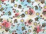 Bienen Print Baumwolle Popeline Kleid Stoff