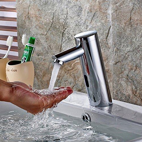 Pumpink Wassersparbecken Wasserhahn Moderne Kreative Technologie Design Chrome Cast Batterie Automatische Infrarot Sensor Kaltem Wasserhahn Touch Armaturen Mischer Wasserhähne