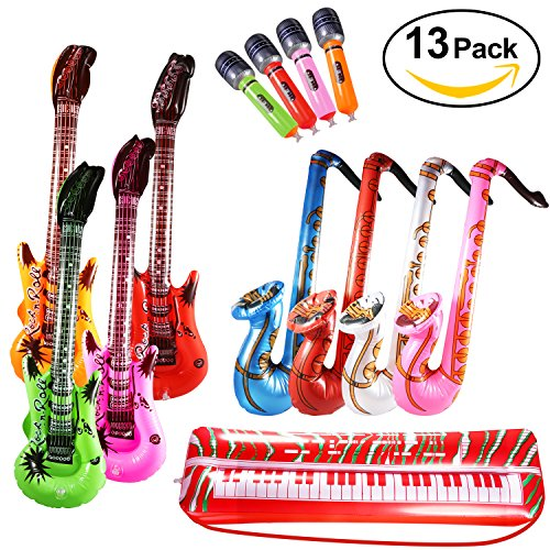 Yosemy Inflables de Juguete, Inflable Guitarra Saxofón Micrófono Tec