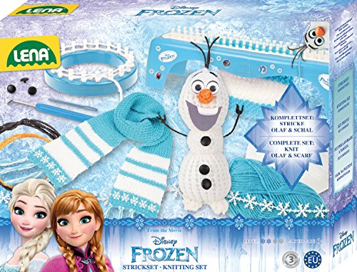Lena 42005 - Strickset 2 in 1 Disney Frozen, türkis