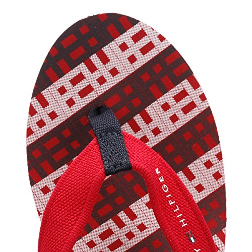 Tommy Hilfiger Donna Marronego Rosso Wedge Flip Flop Marronego Rosso