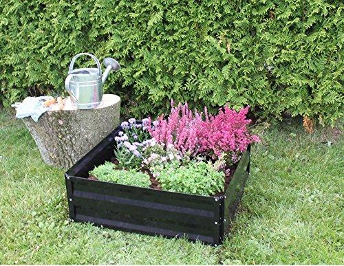 Eider Landgeräte GmbH Koll Living Jardinière surélevée/semis pour terrasse ou Balcon, 60 x 60 x 28 cm