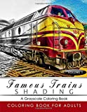 Famous Train Shading Volume 1: Train Grayscale coloring books for adults Relaxation Art Therapy for Busy People (Adult Coloring Books Series, grayscale fantasy coloring books)