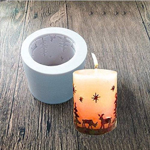 Arpoador Silikon Zylinder Weihnachten Kerze Formen/Seife Formen/Backformen, ideal Form für Heimwerker Kerze zu, Seife und zu backen