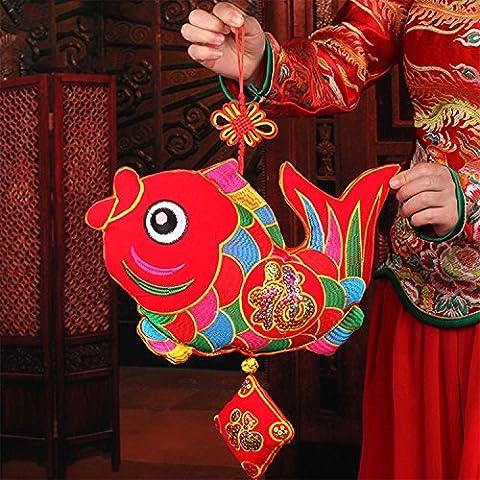 Art Beauty Chinese New Year Decorations Decorative Handmade Hanging (Fish)