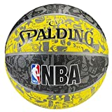 Spalding Nba Graffiti Outdoor SZ.7 (83-307Z) Basketball, Gelb/Grau/Schwarz, 7