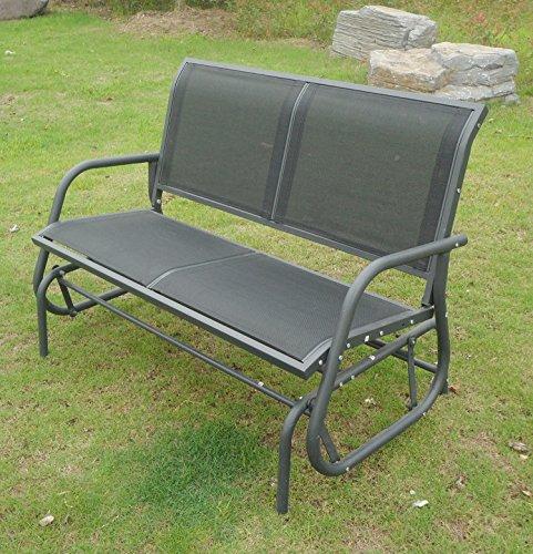 Bentley Garden – Gartenbank/Zweisitzer mit Schaukel-Effekt – Sitzfläche aus Textilene – Grau - 2
