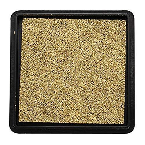 Ruiting Goldener Ink Pad Kasten Verpackung Stempelkissen Stempelkissen für die Hochzeit Brief Dokument Gold |40 * 40mm Bürobedarf -