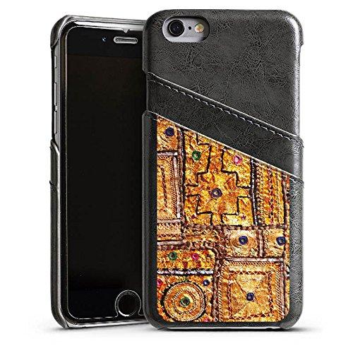 Apple iPhone 4 Housse Étui Silicone Coque Protection Motif Motif Or Étui en cuir gris