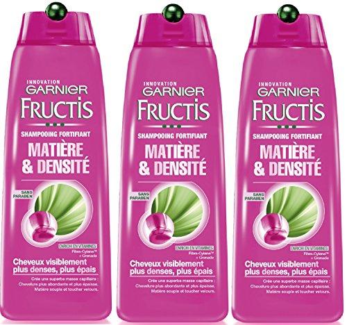 Garnier Fructis Styling-produkte (Garnier Shampoo für Haare, mit Dichte, Material und Dichte, 3 Stück)