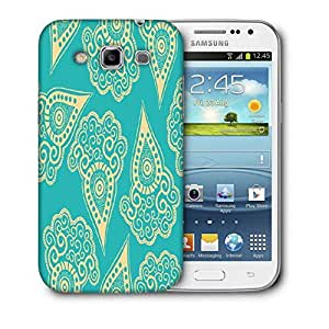 Snoogg Light Yellow Blue Pattern Printed Protective Phone Back Case Cover For Samsung Galaxy Samsung Galaxy Win I8550 / S IIIIII