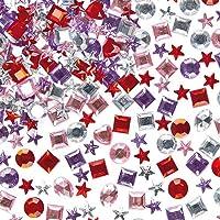 Baker Ross Bijoux strass acryliques autocollants (Lot de 200 )- Matériel créatif pour enfants