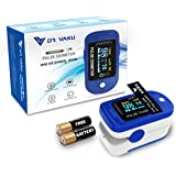 DR VAKU® Pulse Oximeter Fingertip Blood Oxygen SpO2 Heart Rate Monitor FDA CE Approved with Battery