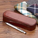 Boîte à stylo Cuir–Idéal de la solution de stockage papeterie.