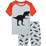 Juego de pijama de dinosaurio para niños 2-7T + pantalones cortos para ropa de dormir