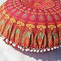 Winkey Baumwollleinen, neuestes Design Indische Mandala Kissen Runde Bohemian Home Kissen Kissen Cover Case Kissen, 43x 43cm von 12300001 auf Gartenmöbel von Du und Dein Garten