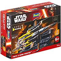 Revell RV06750 Contro 1/78 Build & Play Poes X Wing Fighter, Nero