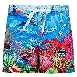 Funnycokid Baby Jungen Strand Shorts gedruckt 3D Grafik Muster Funky Dolphin Kinder Schwimmen tragen 4-10Y Kinder Sweatpants Shorts