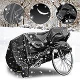 MTURE Telo protettivo impermeabile per biciclette e biciclette elettriche,Antipolvere 190x 65x98CM (L) (Nero)