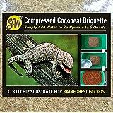 Coco cáscara Chip ladrillo, sustrato de anfibios, selva Gecko, para las pequeñas Reptiles, pequeño Chip (5mm), textura suave, natural aroma de madera, ladrillo de 500G.
